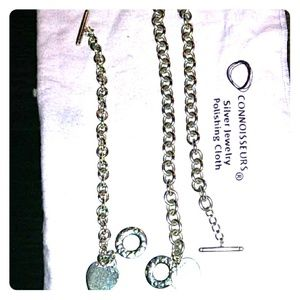 Tiffany & co matching toggle necklace and bracelet